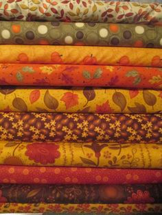 Fall Autumn Half Yard Fabric Bundle - Sandy Gervais - Moda Autumn Inspiration, Colour Inspiration, Colour Pallete, Sewing Studio, Fabulous Fabrics, Fall Diy, Fall Crafts, Autumn Leaves, Bunt