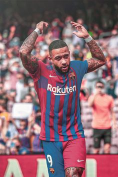 Soccer Backgrounds, Memphis Depay, Football Wallpaper, Fc Barcelona, Messi, Leo, Sports, Collection, Tops