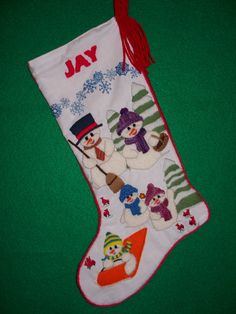 There's No Time Like Snow Time crewel embroidery Christmas stocking kit is Prigrauce Crewel Creations latest release and proving to be a favorite!