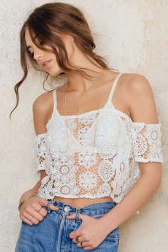 NA-KD Off-shoulder Crochet Top Found on my new favorite app Dote Shopping #DoteApp #Shopping