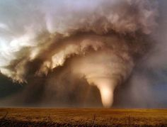 Supercell spawning a tornado