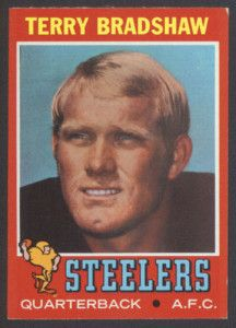 Terry Bradshaw rookie card: part of a list of the best 1970s football rookie cards