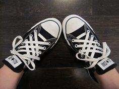 Crazy Converse Shoe Lace Job