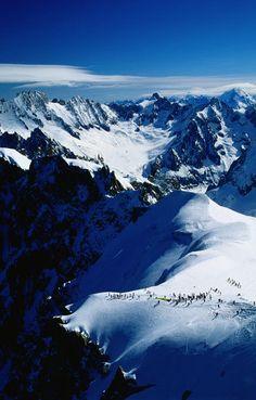 Vista dels Alps des de la Aiguille du Midi - Chamonix, Rhone-Alps