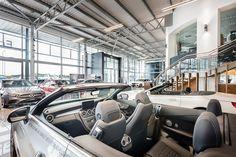 Luxury Mercedes Benz car dealership has opened its new retail outlet in Edinburgh. Luxury Car Dealership, Lighting Showroom, Mercedes Benz Cars, Pos, Edinburgh, Automobile, Retail, Motor Car, Autos