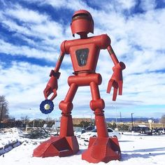 We're calling it! 2016 is the Year of Meow Wolf. Their art complex The House of Eternal Return is in the same neighborhood as our Santa Fe office and this towering bot greets you in the parking lot. We can't wait for the grand opening on March 17th! #yearofmeowwolf #meowwolf #houseofeternalreturn : @meow__wolf @magicalmoods