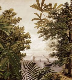 Paysages 200x220 - San Cristobal Sépia L200xH220 - 2 lés de 100cm - ultra mat
