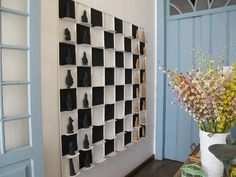 Checkers - inspired wall decor. Double duty: game & wall art.