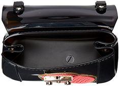 Furla Candy Heart Bon Mini Cross Body Bag, Onyx/Peonia, One Size  $178.00