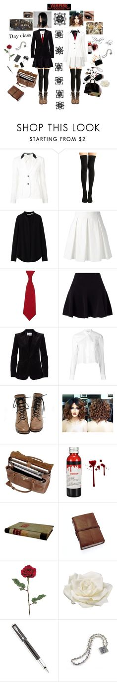"""""""Vampire knight"""" by sweetdreamer13 ❤ liked on Polyvore featuring ATM by Anthony Thomas Melillo, Uniqlo, Boutique Moschino, Clapham, Miss Selfridge, Frame, Helmut Lang, Mulberry, Allstate Floral and Parker"""