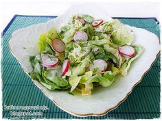 Sałata z rzodkiewką i śmietaną (lub jogurtem naturalnym) Lettuce, Cabbage, Vegetables, Food, Meal, Essen, Vegetable Recipes, Hoods, Cabbages