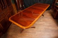 Mahogany Regency Pedestal Dining Table Diner Extending Tables
