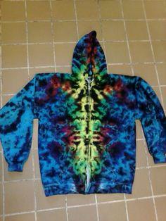 Totem Tie Dye Zip Hoodie  Sizes S  3X