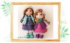 Amigurumi Zoe Doll Yeni Versiyon-Amigurumi Zoe Doll New Version - Tiny Mini Design Knitted Teddy Bear, Teddy Bear Toys, Crochet Teddy, Crochet Dolls Free Patterns, Amigurumi Patterns, Doll Making Tutorials, Crochet Snowman, Princess Toys, Montessori Toys