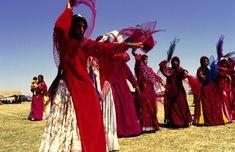 Women dancing in a wedding ceremony, Iran.