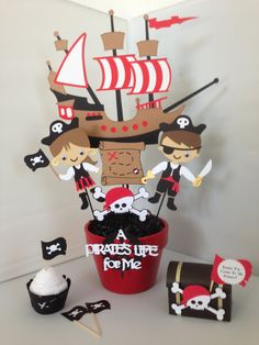 Pirate Party Decorations Pirate Birthday by MyCraftySides on Etsy