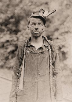 Lewis Hine : A young driver in the Brown Mine. Has been driving one year. Works 7 a.m. to 5:30 p.m. daily. Brown, West Virginia. 1910