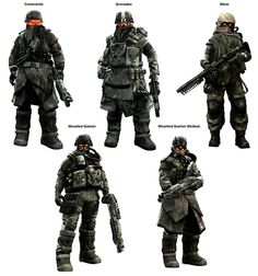 View an image titled 'Helghast Classes Art' in our Killzone 2 art gallery featuring official character designs, concept art, and promo pictures. Alien Concept Art, Armor Concept, Character Concept, Character Art, Apocalypse Comics, Mutant Chronicles, Sci Fi Armor, Future Soldier, Futuristic Art