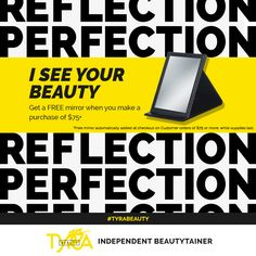ALERT! Special Offer From Tyra Beauty, Well Supplies Last! Get a FREE Table Top Make Up Mirror When You Spend Over $75 On My Website :) Mirror Will Be Automatically Added To Any Order Once It Is Over $75 (LIMITED QUANTITY AVAILABLE) So Don't Wait To Long...  To Get Your Shop On At - https://www.tyra.com/fiercebeyouty/en/us/products