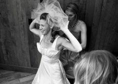 The bride preparing for the ceremony | WM Events