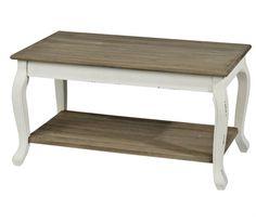 Table basse rectangulaire en bois l110cm avec plateau en - Table basse repeinte ...