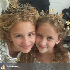 Twins.. International child model Angelina Porcelli and actress Ava Kolker from Girl meets world at a photo shoot in LA