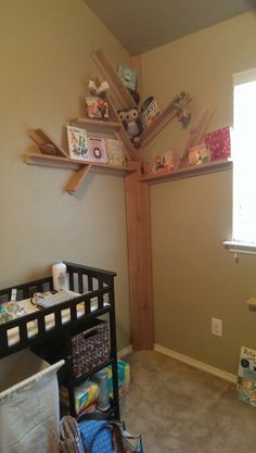 1000 images about baby on pinterest tree bookshelf owl for Corner tree bookcase