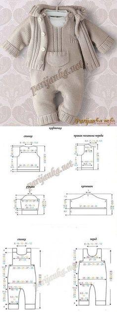 Baby Knitting Patterns Sweaters Kit for a newborn. Diary of … Newborn Crochet Patterns, Baby Boy Knitting Patterns, Knitting For Kids, Baby Patterns, Sewing Patterns, Crochet For Boys, Baby Pants, Baby Cardigan, Baby Sweaters