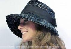 Chapeau rafia plastique