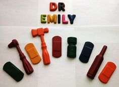 Personalized doctor crayons set with by CustomCrayonsbySara, $12.99
