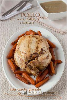 pollo ripieno-verza salsiccia patate