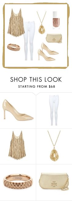 """""""Gold Monday"""" by javierandreag on Polyvore featuring moda, Jimmy Choo, Miss Selfridge, Calypso St. Barth, Lord & Taylor, Vitaly y Tory Burch"""