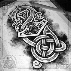 Thor's hammer (rune Sowulo / Sigel) and serpent 🐍 (iPad pro + apple pencil + Procreate app = sketch, workflow) for sale Молот Тора с руной… Druid Symbols, Viking Symbols, Viking Runes, Ancient Symbols, Norse Tattoo, Tattoo On, Celtic Tattoos, Thor Hammer Tattoo, Viking Pattern