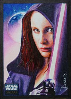 Mara Jade - Own the Night by David Desbois DavidDeb] Star Wars Love, Star Wars Girls, Star War 3, Thrawn Trilogy, Mara Jade, Anthology Film, Star Wars Rpg, Star Wars Poster, Hand Illustration