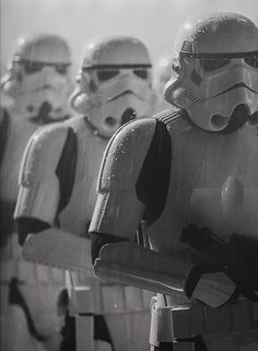 troopers in rain
