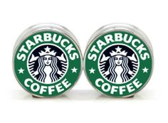 """Pair of STARBUCKS COFFEE Stainless Steel Screw Ear Tunnels Expander Stretcher 5/8""""/16mm, http://www.amazon.com/dp/B00F22PB4Q/ref=cm_sw_r_pi_awdm_gZM6sb1DJQ8WX"""