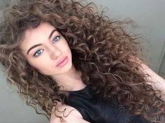 In the world of hair, there are many hairstyles that can be worn by a wide variety of hair types. Those who have long, curly hair can really try out some interesting styles with their beautiful loc… Curly Hair Styles, Natural Hair Styles, Natural Curls, Natural Perm, Big Hair, Wavy Hair, Kinky Hair, Brown Hair Perm, Long Hairstyles