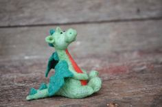 Needle Felted Dragon - Felted Miniature