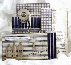 BEACH HOUSE GETAWAY - Maja Design , Life by the sea collection , April 2014 Design team project .3 Tags in a pocket .