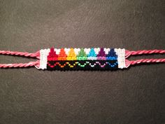 Alpha friendship bracelet pattern added by CWillard. crayola crayons rainbow wave zig zag line. Thread Bracelets, Embroidery Bracelets, Ankle Bracelets, Beaded Bracelets, String Bracelets, Homemade Bracelets, Diy Friendship Bracelets Patterns, Alpha Patterns, Fun Patterns
