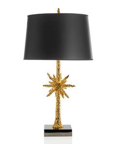 Starburst Gold-Tone Table Lamp, Gold - Michael Aram