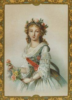 1795 Elizabeth Alexeievna by or after Élisabeth-Louise Vigée-Lebrun (location unknown to gogm)   Grand Ladies   gogm