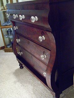 Mahogany Empire Chest of Drawers c.1840.  I love empire chest of drawers ....
