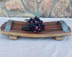 Wine Barrel Stave Serving Tray by MRLEnterprises on Etsy