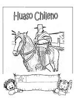 Dibujos para colorear de Chile, fiestas patrias | conozcamos chile
