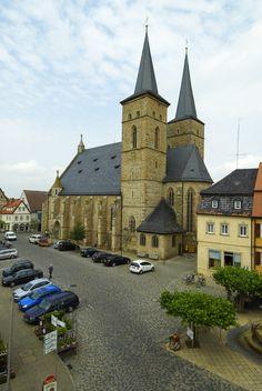 Die Kirche in Gerolzhofen - http://www.schweinfurt360.de/  #Kirche #Gerolzhofen #LandkreisSchweinfurt