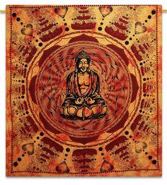Buddha Tapestry Wall Hangings sheetkart mandala hippie indian traditional wall hanging large
