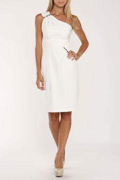 Donna Ricco Roma Dress in Ivory - Beyond the Rack