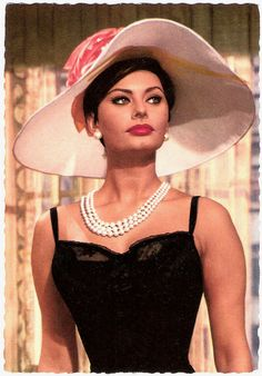 Sophia Loren has been my style Icon since I was a little girl, love her curves and beauty and style, I use to keep a photo of her infront of me and try copy the make up style :)