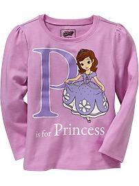 Disney© Princess Sofia Long-Sleeve Tees for Baby